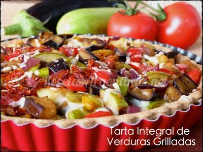 tarta integral de verduras grilladas