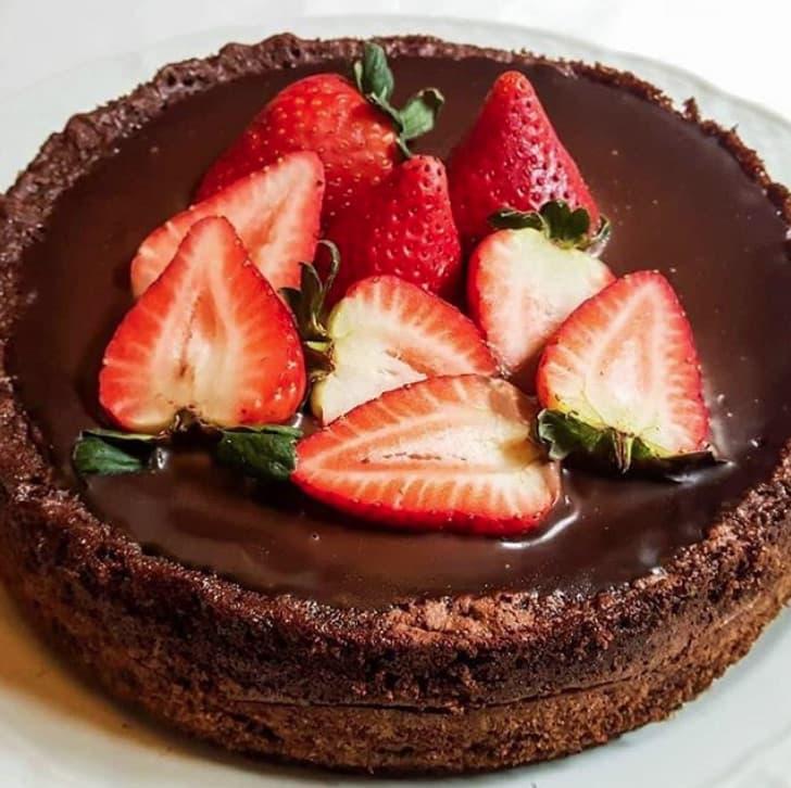 Bomba brownie y ganache de chocolate
