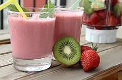 smoothie fresa y kiwi - Smoothie de fresas, kiwi y soja