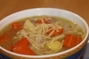 sopa de pollo 1 - Sopas con Thermomix