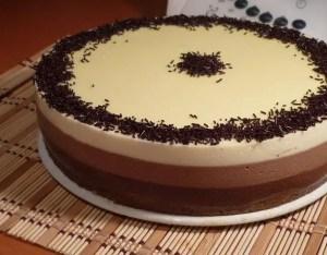 tarta tres chocolates - Tartas y Bizcochos con Thermomix