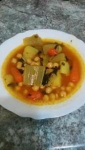 garbanzos con cardo y zanahoria - Legumbres, potajes, guisos - tradicionales