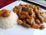pollo con almendras - Lasaña de tofu y algas con Thermomix