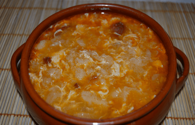 sopa de ajo castellana2 - Sopa de ajo castellana en Thermomix
