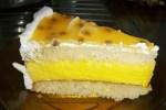 bizcocho mousse de maracuya - Postre fácil de queso philadelphia y melocotón