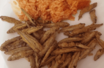 boquerones fritos - Comidas rapidas - Boquerones fritos con arroz de tomate