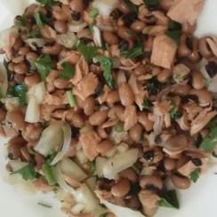 judias carillas con atún - Ensalada de legumbres con atún