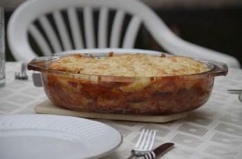 lasaña vegetariana - Lasaña vegetariana con berenjena