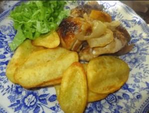 pollo asado al horno - Carne con Thermomix