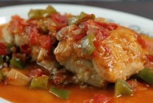 bacalao con tomate - Pescados y mariscos con Thermomix