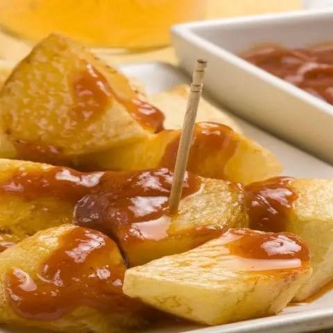 patatas bravas - Gambas al ajillo en Thermomix