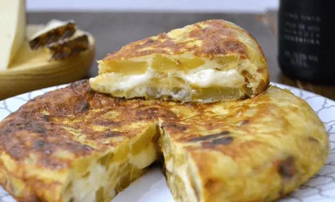 tortilla de patata con queso - Tortilla de patatas con queso