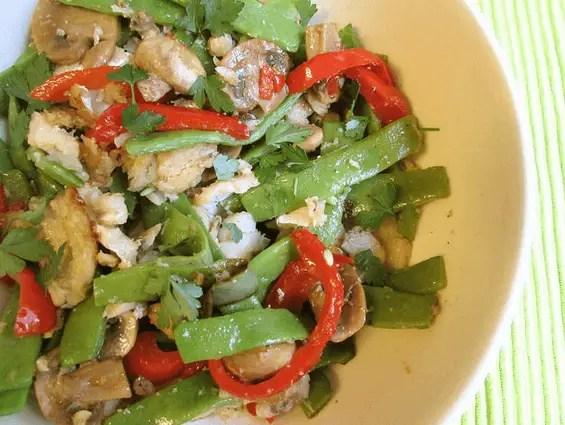 ensalada de judias verdes con bacalao - Ensalada de judias verdes con bacalao