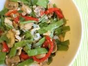ensalada de judias verdes con bacalao - Ensalada mediterranea de judias verdes con bacalao
