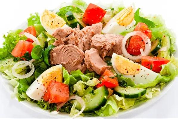ensalada mediterraneo de atun saludable - Ensaladas