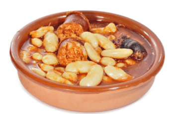 fabes con chorizo - Receta de fabada asturiana tradicional