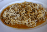 arroz con almejas o berberechos de Algarve - Canapés de salchicha para Navidad