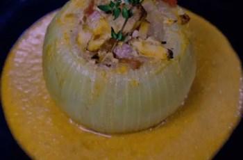 cebolla rellena - Cebolla rellena al estilo de Caceres