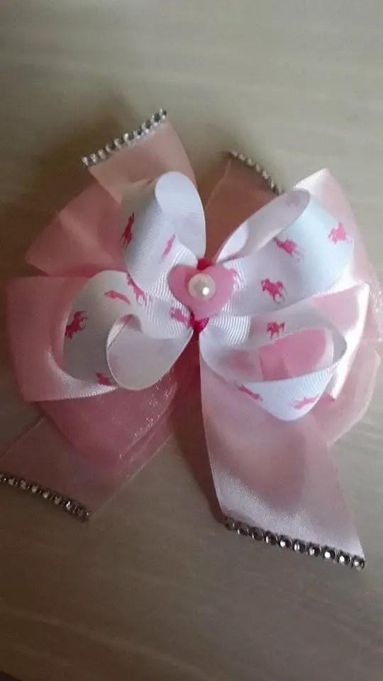 lazo rosa 7 euros - Venta de lazos y broches decorativos