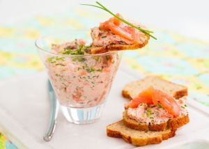 paté de salmon y queso - Entrantes con Thermomix