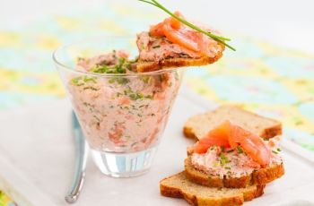 paté de salmon y queso - Paté de salmón