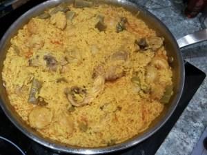 paella de arroz con pollo - Recetas tradicionales varios y arroces