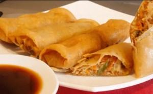 comida china rollitos de primavera - Recetas de entradas tradicionales