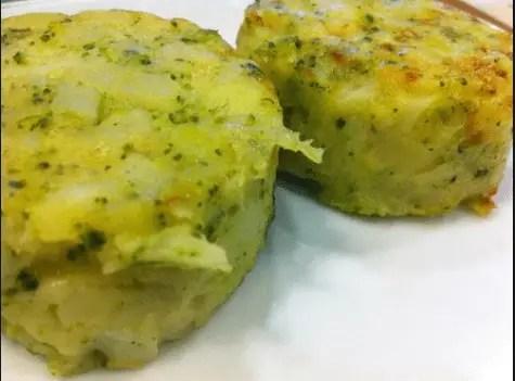 medallones patata y brocoli de Ikea - Reciclaje de verduras o tempura de verduras