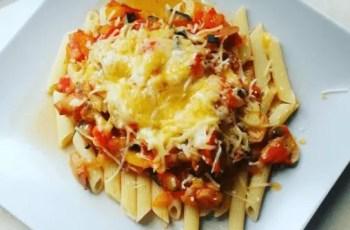 pasta con pisto - Pasta al pisto con queso parmesano Mercadona