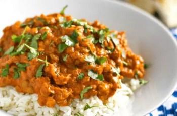 puré de lentejas al curry - Puré de lentejas al curry