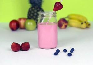 batido yogur fresa y platano - Bebidas con Thermomix