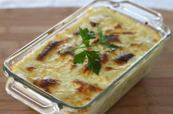 pasta con bechamel - Aprovechamiento de restos de pasta con salsa bechamel