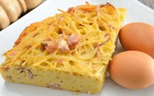 tortilla de pasta - Recetas de entradas tradicionales