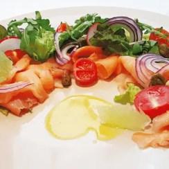 Ensalada fresca de salmón ahumado - Ensalada fresca de salmón ahumado