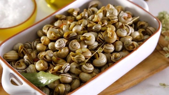 Como cocinar caracoles al estilo de Portugal