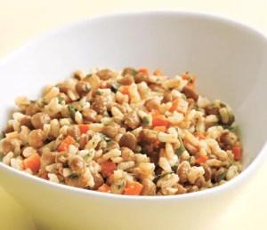 ensalada de lentejas con arroz - Legumbres, potajes, guisos - tradicionales