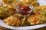 Buñuelos de verduras - Entradas de bacon con pan