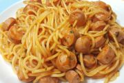 espaguettis con salchichas - Espaguetis con salchichas en Thermomix