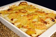 patatas gratinadas - Pastel de pescado gratinado