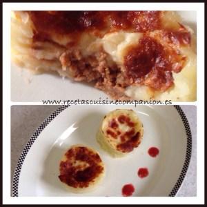 Volcan de patata y boloñesa