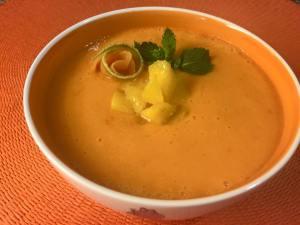 gazpacho de melon y melocoton