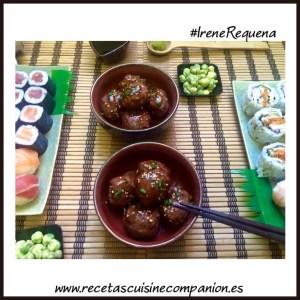 albondigas con salsa teriyaki