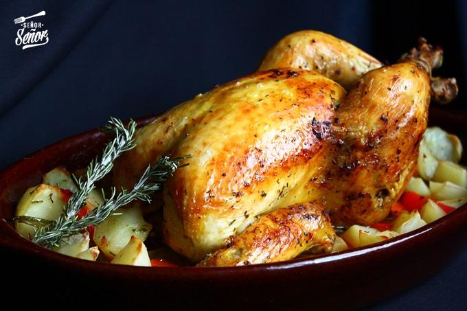 Receta pollo asado  Receta de Sergio