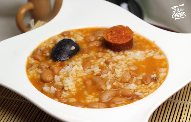 Receta de judas pintas con arroz  Receta de Sergio