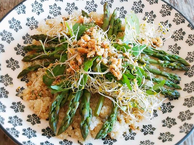 quinoa-con-esparragos