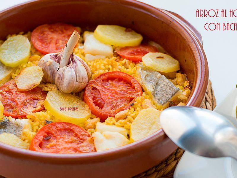 arroz al horno con bacalao
