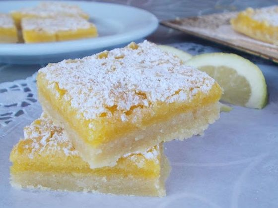Lemon bars (barritas de limon)