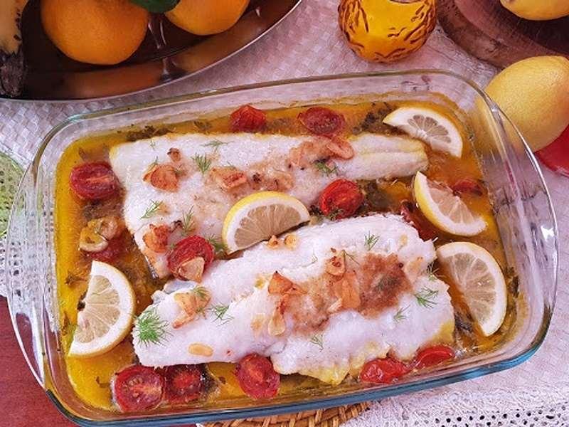 Merluza al horno con limón