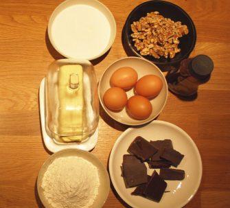 ingredientes para hacer brownie con nueces