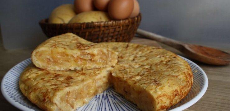 Receta tortilla de patatas o tortilla española